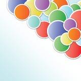 Κάρτα με τις σφαίρες χρώματος Στοκ εικόνα με δικαίωμα ελεύθερης χρήσης