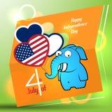 Κάρτα με τον ελέφαντα διανυσματική απεικόνιση