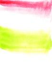 Κάρτα με τους πράσινους και ρόδινους λεκέδες Ζωγραφική Watercolor για το σχέδιο Στοκ εικόνες με δικαίωμα ελεύθερης χρήσης