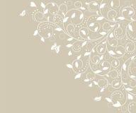 Κάρτα με το floral σχέδιο Στοκ Εικόνες