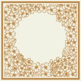 Κάρτα με το primula graphics Βοτανικό λουλούδι σχεδίων ελεύθερη απεικόνιση δικαιώματος