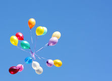 κάρτα μπαλονιών Στοκ Εικόνα