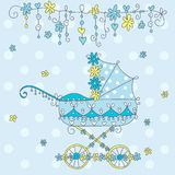 κάρτα μωρών άφιξης ανακοίνωσης Στοκ Εικόνα