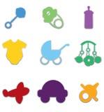 κάρτα μωρών άφιξης Στοκ Εικόνες