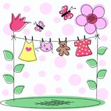 κάρτα μωρών ανακοίνωσης Στοκ Εικόνες