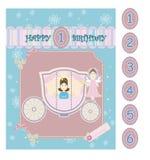 Κάρτα μωρών γενεθλίων Στοκ Εικόνες