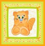 κάρτα μωρών χαριτωμένη απεικόνιση αποθεμάτων