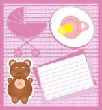 κάρτα μωρών Στοκ Φωτογραφίες