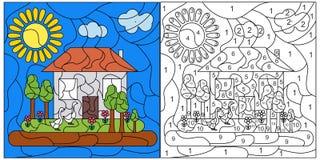 Κάρτα μωσαϊκών παιδιών Στοκ Εικόνα