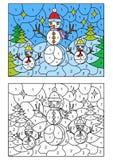 Κάρτα μωσαϊκών παιδιών Στοκ εικόνα με δικαίωμα ελεύθερης χρήσης