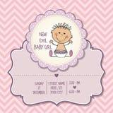 Κάρτα ντους κοριτσάκι Στοκ εικόνα με δικαίωμα ελεύθερης χρήσης