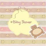 Κάρτα ντους μωρών με teddy διανυσματική απεικόνιση