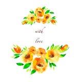 κάρτα λουλουδιών στοκ εικόνα με δικαίωμα ελεύθερης χρήσης
