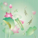 Κάρτα λουλουδιών Lotus Στοκ φωτογραφία με δικαίωμα ελεύθερης χρήσης