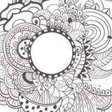 Κάρτα λουλουδιών Watercolor Στοκ εικόνες με δικαίωμα ελεύθερης χρήσης