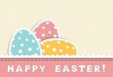Κάρτα Πάσχας με τα αυγά Στοκ Εικόνες