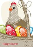 κάρτα Πάσχα ευτυχές διανυσματική απεικόνιση