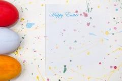 κάρτα Πάσχα ευτυχές Στοκ Εικόνα