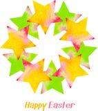 κάρτα Πάσχα ευτυχές Στοκ Φωτογραφία
