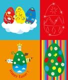 κάρτα Πάσχα τέσσερα που χα&i Στοκ Εικόνες