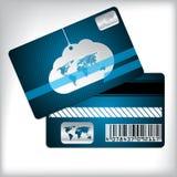 Κάρτα πίστης με το σύννεφο και το ριγωτό υπόβαθρο Στοκ φωτογραφίες με δικαίωμα ελεύθερης χρήσης