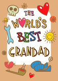 Κάρτα παγκόσμιου καλύτερη Grandad διανυσματική απεικόνιση