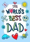 Κάρτα παγκόσμιων καλύτερη μπαμπάδων διανυσματική απεικόνιση