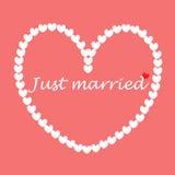 κάρτα παντρεμένη Στοκ Εικόνες