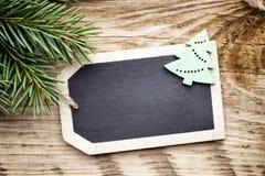 Κάρτα πινάκων Χριστουγέννων Στοκ φωτογραφία με δικαίωμα ελεύθερης χρήσης