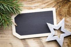 Κάρτα πινάκων Χριστουγέννων Στοκ Εικόνα