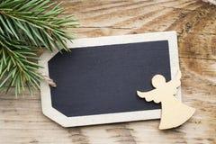 Κάρτα πινάκων Χριστουγέννων Στοκ εικόνες με δικαίωμα ελεύθερης χρήσης