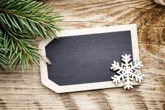 Κάρτα πινάκων Χριστουγέννων Στοκ εικόνα με δικαίωμα ελεύθερης χρήσης