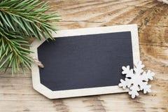 Κάρτα πινάκων Χριστουγέννων Στοκ Φωτογραφίες