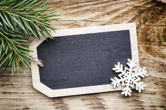 Κάρτα πινάκων Χριστουγέννων Στοκ φωτογραφίες με δικαίωμα ελεύθερης χρήσης
