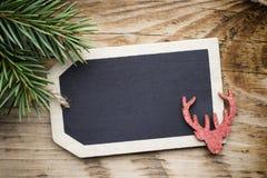 Κάρτα πινάκων Χριστουγέννων Στοκ Εικόνες