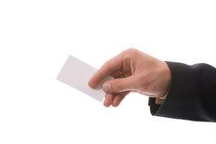 κάρτα που δίνει το χέρι Στοκ εικόνες με δικαίωμα ελεύθερης χρήσης