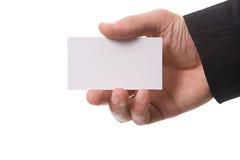 κάρτα που δίνει το χέρι Στοκ Εικόνες