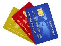 Κάρτα που κλειδώνεται πιστωτική Στοκ εικόνα με δικαίωμα ελεύθερης χρήσης