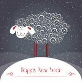 κάρτα που χαιρετά τα νέα έτη Σύμβολο του έτους του 2015 Στοκ Εικόνα