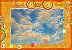 κάρτα που χαιρετά το αρχι&kap απεικόνιση αποθεμάτων