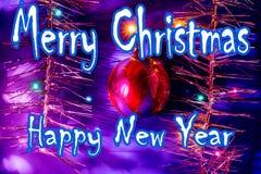 κάρτα που χαιρετά το νέο έτος διανυσματική απεικόνιση