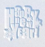 κάρτα που χαιρετά το νέο έτος Στοκ Φωτογραφίες