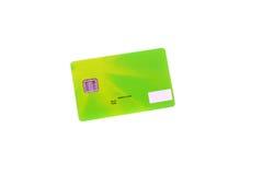 Κάρτα πράσινη Στοκ Φωτογραφίες