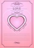 Κάρτα προτύπων invatation αγάπης Στοκ Εικόνες