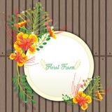 Κάρτα πρόσκλησης ή γάμου με την αφηρημένη floral ανασκόπηση στοκ φωτογραφία