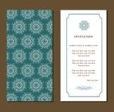 Κάρτα πρόσκλησης ή γάμου Στοκ Φωτογραφίες