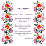 Κάρτα πρόσκλησης για το γάμο Στοκ εικόνες με δικαίωμα ελεύθερης χρήσης