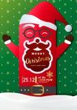 Κάρτα πρόσκλησης κόμματος Χαρούμενα Χριστούγεννας, υπόβαθρο, διανυσματικό σχέδιο απεικόνισης Στοκ Φωτογραφίες