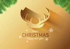 Κάρτα πρόσκλησης κόμματος Χαρούμενα Χριστούγεννας, υπόβαθρο, διανυσματικό σχέδιο απεικόνισης Στοκ εικόνες με δικαίωμα ελεύθερης χρήσης