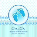 Κάρτα πρόσκλησης μωρών Απεικόνιση αποθεμάτων